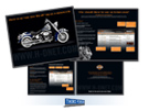 Harley-Davidson H-DNet.com Brochure created by Milwaukee ad agency