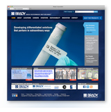 New Web Site Design for Brady Corporation created by a Milwaukee Advertising Agency